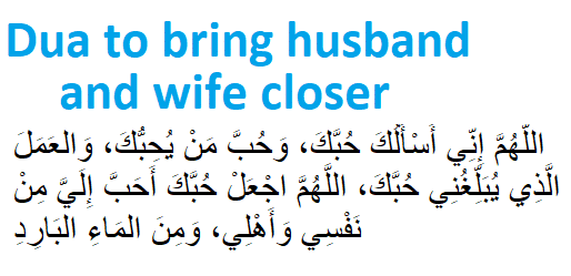 http://www.duasinislam.com/dua/dua-to-bring-husband-and-wife-closer/